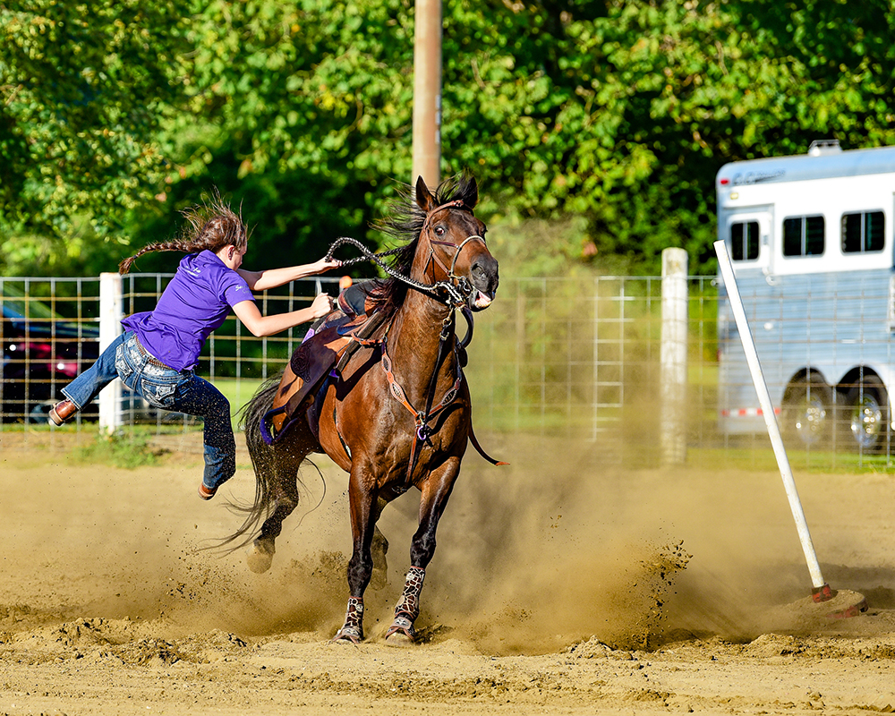 1st Place - Stop Action Color- I photograph at the Gibsonburg Saddle Club often. This was a show last year. I get quite a few falls.